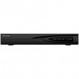 Hikvision 16-channel NVR, Up to 8Mp, H.265/H.265+, Max 160 Mbps incoming bandwidth, 1xVGA, 1xHDMI, 1xSATA up to 6TB, 2xUSB 2.0, 1xRG45, 1xAudio out, CMS/Web viewer, DC12V/10W, Without HDD.