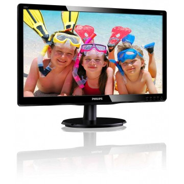 "Philips 19.5"" LED монитор 1920 x 1080 16:9 FHD, 8ms, 250cd/m2, VGA, DVI"