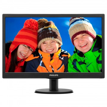 "Philips 20"" Slim LED 1600x900 HD 16:9 5ms 10 000 000:1 VGA, VESA, Piano black"